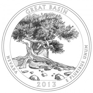 2013 Great Basin National Park Quarter and Silver Coin Design
