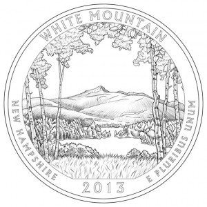 2013 White Mountain National Forest Quarter Design