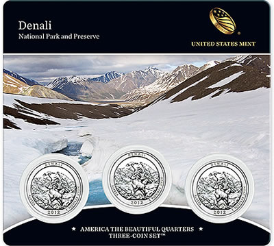 Denali America the Beautiful Quarters Three-Coin Set