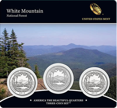 2013 White Mountain America the Beautiful Quarters Three-Coin Set