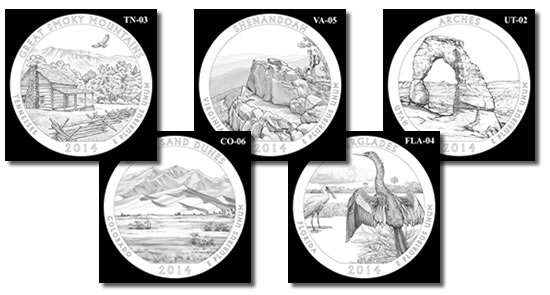 2014 America the Beautiful Quarters Design Candidates