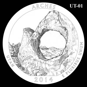 2014 Arches National Park Quarter Design Candidate UT-01
