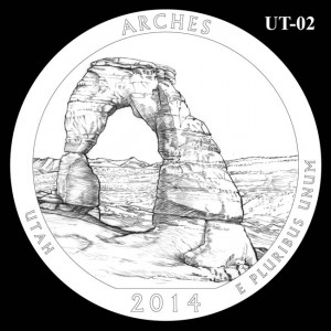 2014 Arches National Park Quarter Design Candidate UT-02