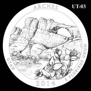 2014 Arches National Park Quarter Design Candidate UT-03
