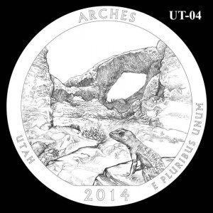 2014 Arches National Park Quarter Design Candidate UT-04