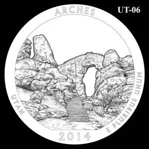 2014 Arches National Park Quarter Design Candidate UT-06