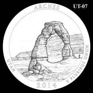 2014 Arches National Park Quarter Design Candidate UT-07