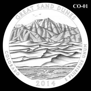 2014 Great Sand Dunes National Park Quarter Design Candidate C0-01