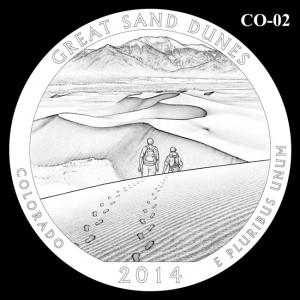 2014 Great Sand Dunes National Park Quarter Design Candidate C0-02