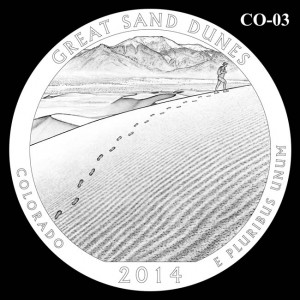 2014 Great Sand Dunes National Park Quarter Design Candidate C0-03