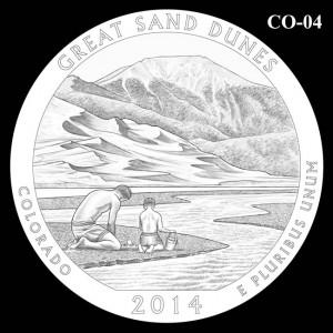 2014 Great Sand Dunes National Park Quarter Design Candidate C0-04