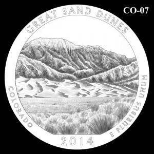 2014 Great Sand Dunes National Park Quarter Design Candidate C0-07