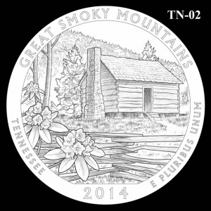 2014 Great Smoky Mountains National Park Quarter Design Candidate TN-02