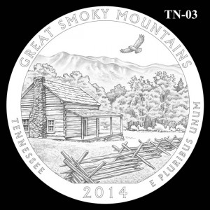 2014 Great Smoky Mountains National Park Quarter Design Candidate TN-03
