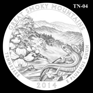 2014 Great Smoky Mountains National Park Quarter Design Candidate TN-04