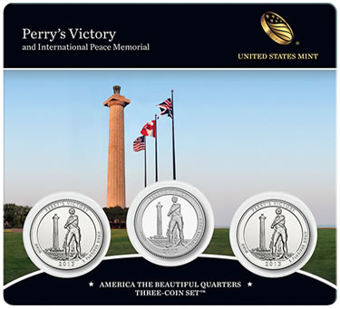 2013 Perry's Victory America the Beautiful Quarters Three-Coin Set - Front of Card