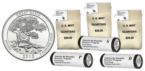 2013 Great Basin Quarters in Rolls and Bags