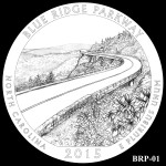 Blue Ridge Parkway America the Beautiful Quarter Design BRP-01