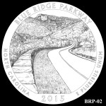 Blue Ridge Parkway America the Beautiful Quarter Design BRP-02