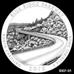 Blue Ridge Parkway America the Beautiful Quarter Design BRP-05
