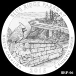 Blue Ridge Parkway America the Beautiful Quarter Design BRP-06