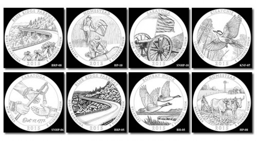 Designs for 2015 America the Beautiful Quarters