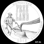 Homestead National Monument America the Beautiful Quarter Design HP-06