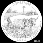 Homestead National Monument America the Beautiful Quarter Design HP-08