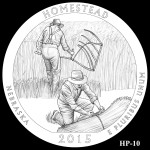 Homestead National Monument America the Beautiful Quarter Design HP-10