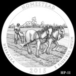 Homestead National Monument America the Beautiful Quarter Design HP-11
