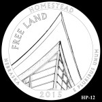 Homestead National Monument America the Beautiful Quarter Design HP-12