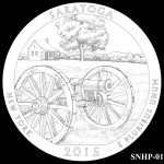 Saratoga National Historical Park America the Beautiful Quarter Design SNHP-01