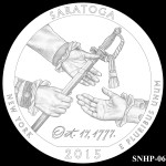 Saratoga National Historical Park America the Beautiful Quarter Design SNHP-06