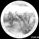 Saratoga National Historical Park America the Beautiful Quarter Design SNHP-09