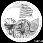 Saratoga National Historical Park America the Beautiful Quarter Design SNHP-10