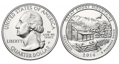 2014 Great Smoky Mountains Quarter - Obverse and Reverse