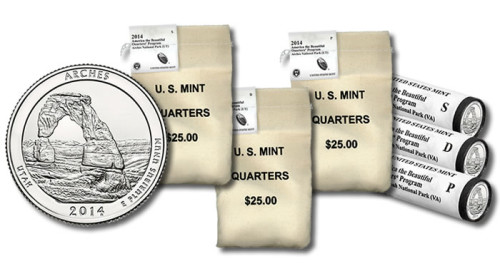 Arches National Park Quarter, Rolls and Bags
