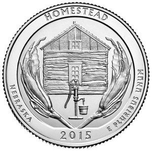 2015 Homestead National Monument of America Quarter - Reverse Side