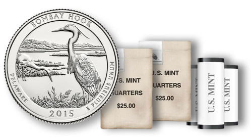 Bombay Hook quarters, rolls and bags